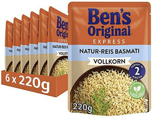 6x 220g Bens Original Express Reis Naturreis Mediterran oder Basmati ab 5,76€ (statt 10€)   Prime