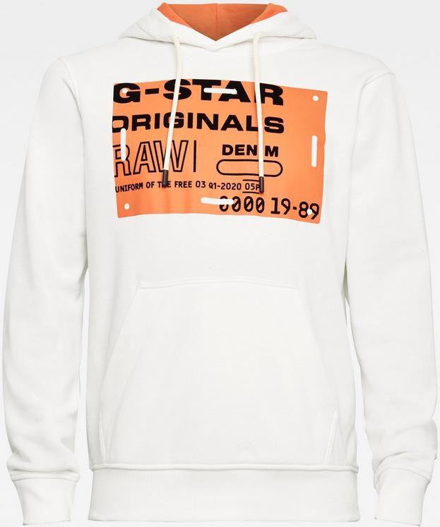G star Raw Originals HOODIE 111 in Weiß für 69,99€ (statt 99€)