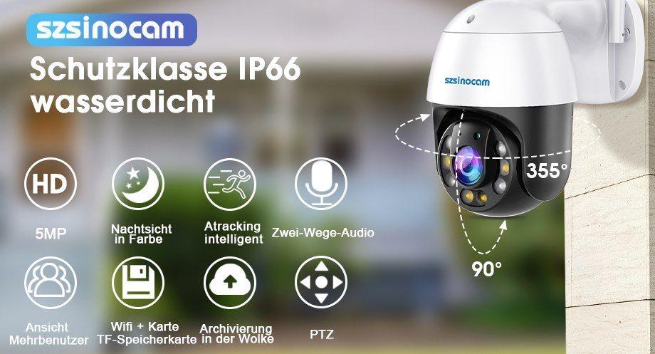 SZSINOCAM  QJ 500W   5MP (2560x1920) PTZ Kamera mit Bewegungserkennung für 89,99€ (statt 119€)