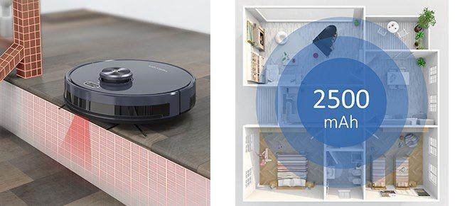 TESVOR S6 Saugroboter mit Laser Navigation, 2700Pa & Wischfunktion für 211,95€ (statt 289€)