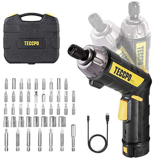 TECCPO TDSC01P Mini Akkuschrauber mit 2,0Ah 3,6V Li Ion Akku inkl. Zubehör für 16,49€ (statt 33€)