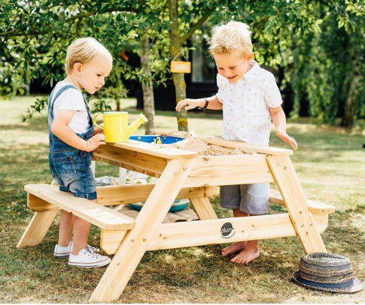 Plum Kinder Picknicktisch mit Sandkasten & Wasserspiel für 49,99€ (statt 66€)