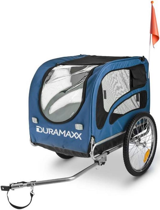 Duramaxx King Rex Fahrradhundeanhänger in Blau für 99,99€ (statt 119€)
