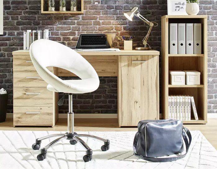 Mömax Schreibtisch in Eichefarben (145 x 76,3 x 60 cm) für 127,25€ (statt 169€)