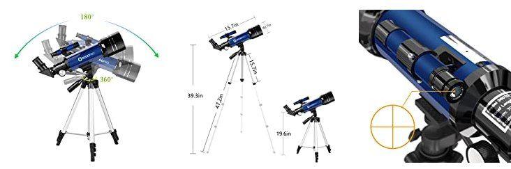 ECOOPRO 70mm Teleskop mit 360mm Brennweite für 65,99€ (statt 91€)