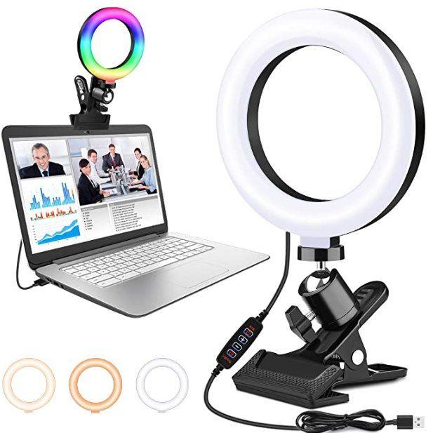 RGB LED Ringlicht für Notebook für 5,99€   Prime