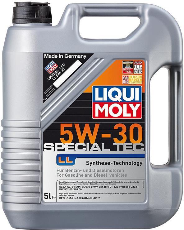 LIQUI MOLY 1193 Special Tec LL   5W 30 Motoröl 5 Liter für 27,85€ (statt 39€)