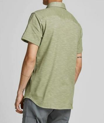 JACK & JONES Hemd Montana in oliv für 16,79€ (statt 35€)