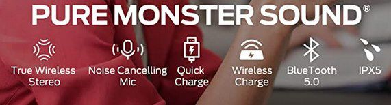 Monster Clarity 102 BT 5.0 TWS InEar Kopfhörer mit 4 Mikrofonen & CVC 8.0 für 39,99€ (statt 80€)