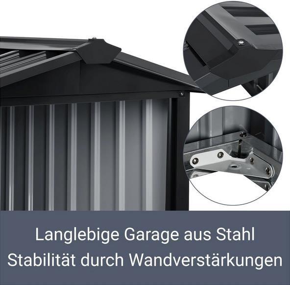 Juskys Mähroboter Garage mit Satteldach für 64,99€ (statt 79€)