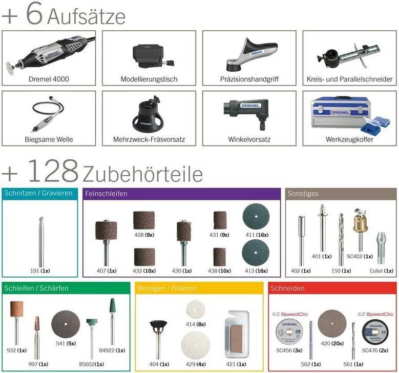 Dremel 4000   Platin Edition   Multifunktionswerkzeug für 113,99€ (statt 153€)