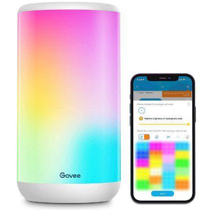 Govee Aura   smarte RGBIC Tischleuchte mit Musikeffekt, Alexa & Google Support für 52€ (statt 65€)