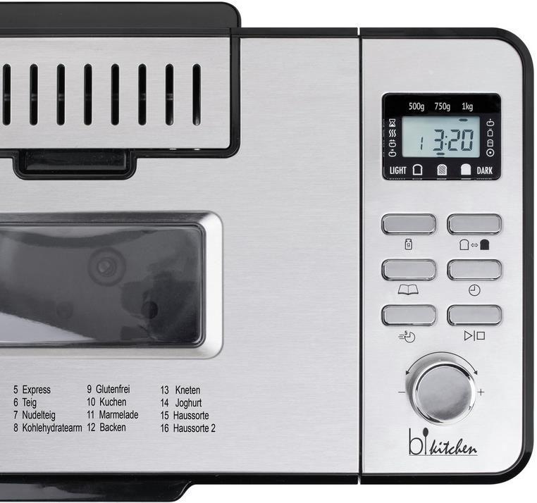 BiKitchen BAKE 500 Brotbackautomat für 63,94€ (statt 96€)