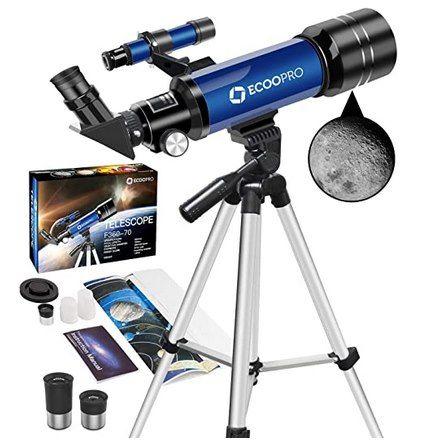 ECOOPRO 70mm Teleskop mit 360mm Brennweite für 45,49€ (statt 91€)