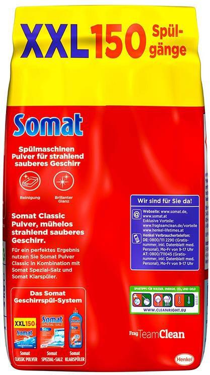 4x Somat Classic Pulver   Spülmaschinenreiniger 3 Kg Großpackung für 19,55€ (statt 30€)   Sparabo