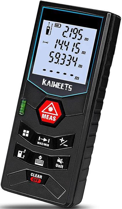 Kaiweet Laser Entfernungsmesser bis zu 60 Meter für 19,49€ (statt 25€)