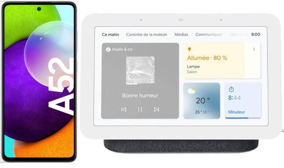 Samsung Galaxy A52 für nur 1€ + o2 Allnet Flat mit 10GB LTE für 19,99€ mtl. + Google Nest Hub Gratis Aktion