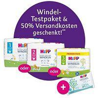 Mit dem HiPP Mein BabyClub gratis Windel-Testpaket + Feuchttücher + 2,48€ VSK