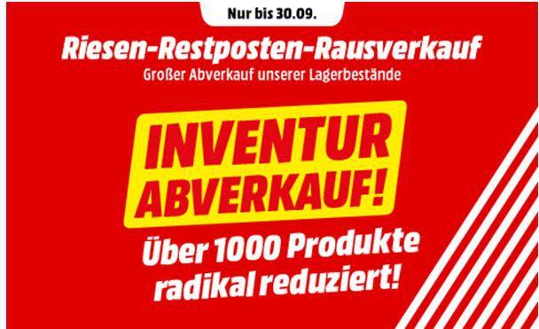 Media Markt Inventur Abverkauf: z.B. CANON EOS 2000D Kit Spiegelreflexkamera für 323€ (statt 389€)