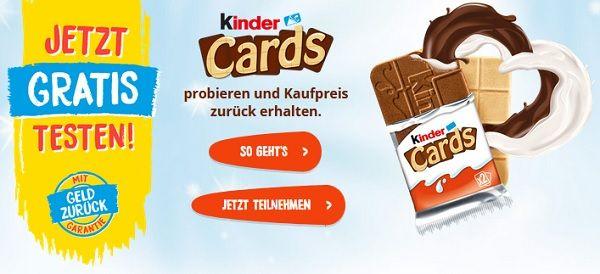 Kinder Cards kostenlos ausprobieren