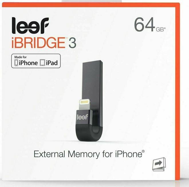 Leef iBridge 3   64GB externer iOS Speicher für 27,50€ (statt 35€)
