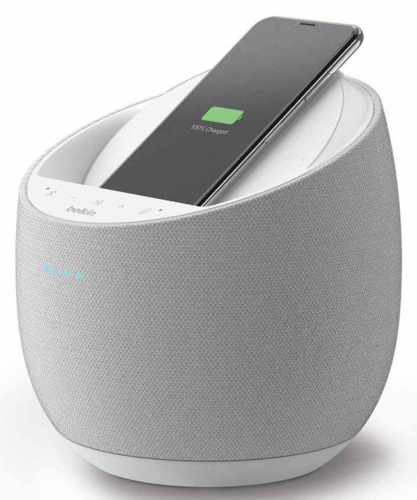 Belkin SOUNDFORM ELITE   Smarter Lautsprecher (AirPlay 2 & Alexa, drahtlos laden) für 99,95€ (statt 126€)