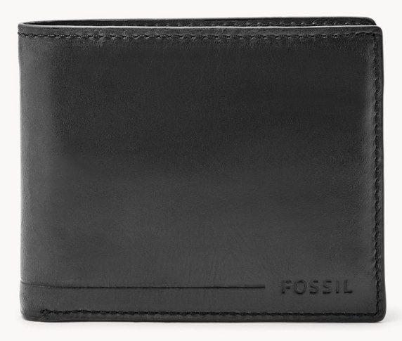 Fossil Passhülle Allan   RFID Passcase in Schwarz und Braun für 14€ (statt 20€)