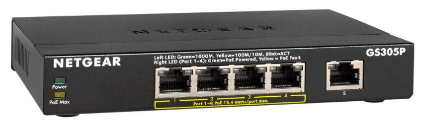 NETGEAR GS305P 5 Port PoE Switch für 49,90€ (statt 65€)