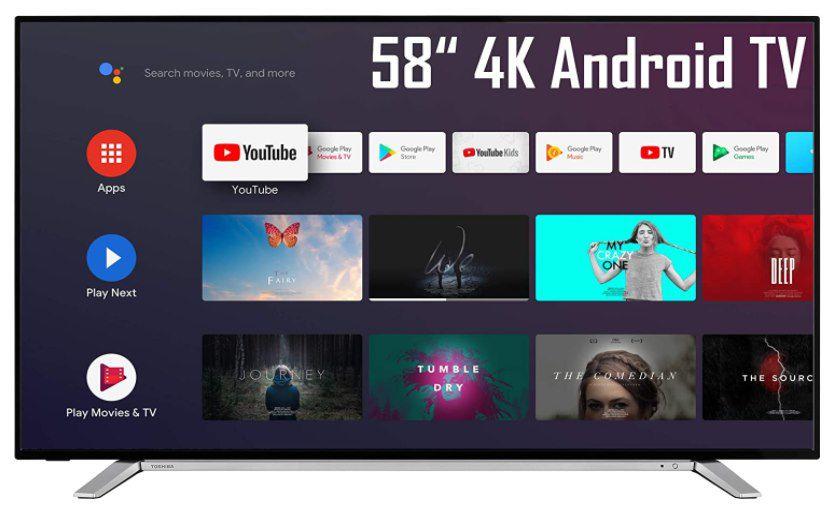 Toshiba 58UA2B63DG   58 Zoll 4K UHD Smart TV (HDR Dolby Vision, Android TV, Triple Tuner) für 420,16€ (statt 494€)