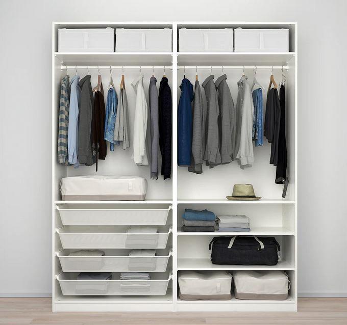 Ikea Pax Kleiderschrank weiß (200x66x236cm) für 586€ (statt 836€)