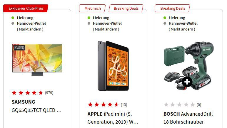 MediaMarkt Breaking Deals   z.B. CHRISTOPEIT CS 5 Silber Crosstrainer für 289€ (statt 399€)