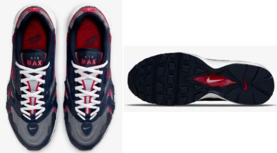 Nike Air Max 96 2 Sneaker in Navy/Grau/Rot für 101,97€ (statt 140€)