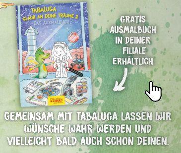 Ausmalbuch von Tabaluga bei Netto gratis + Gewinnspiel