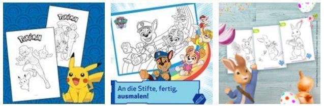 Toggo Eltern: Ausmalbilder von Pokémon, Paw Patrol, Peter Hase uvm. gratis herunterladen