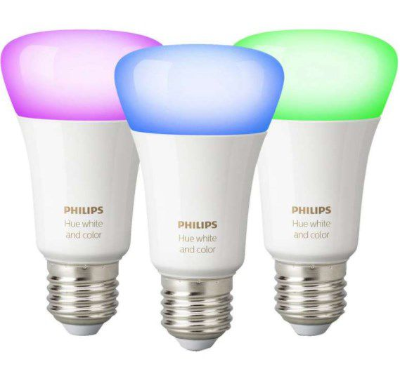 3er Pack Philips Hue White & Color Ambiance E27 LED Lampe mit BT für 88,99€ (statt 106€)