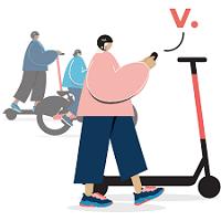 6 kostenlose Freischaltungen für Voi E-Scooter
