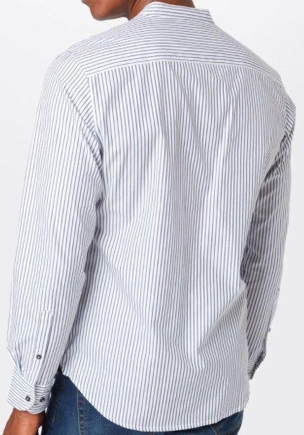s.Oliver BLACK LABEL Hemd in Dunkel Blau/Weiß für 17,50€ (statt 26€)