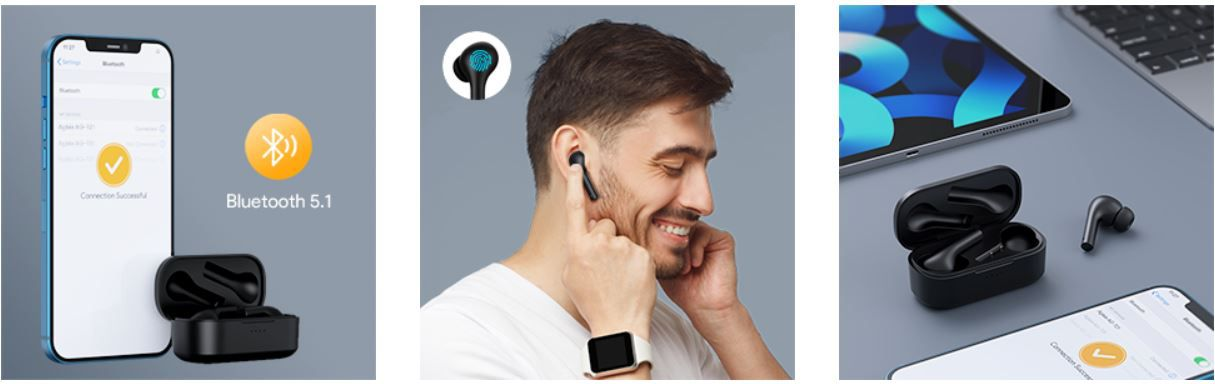 Aglaia AG T21 Bluetooth Kopfhörer in Ear für 23,79€ (statt 34€)