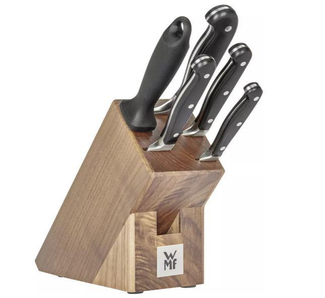 WMF Spitzenklasse Plus Walnuss Messerblock mit 6teiligen Messerset für 93,94€ (statt 144€)
