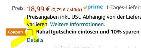 24x WUNDERBAR Riegel (je 48g) ab 15,19€ (statt 21€)   Prime