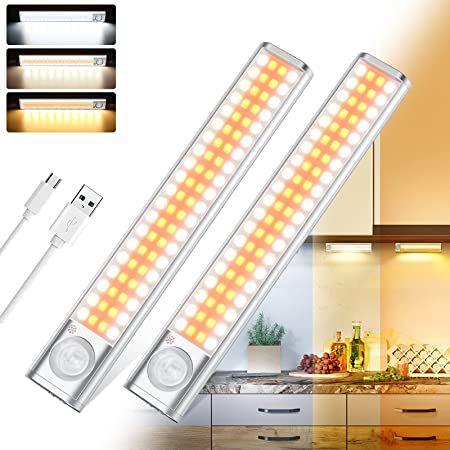 2er Pack LED Schrankleuchten mit Bewegungssensor – 80 LED mit 3 Farben für 18,99€ (statt 30€)
