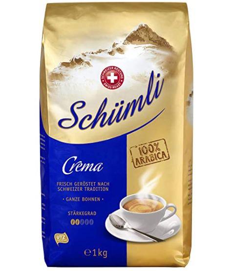 1kg Schümli Crema Ganze Kaffeebohnen für 9,34€ (statt 13€)   Prime Sparabo