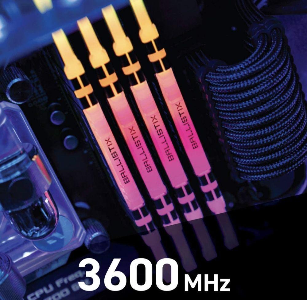 Crucial Ballistix RGB 32GB Kit DDR4 3600 CL16 für 159,90€ (statt 170€)