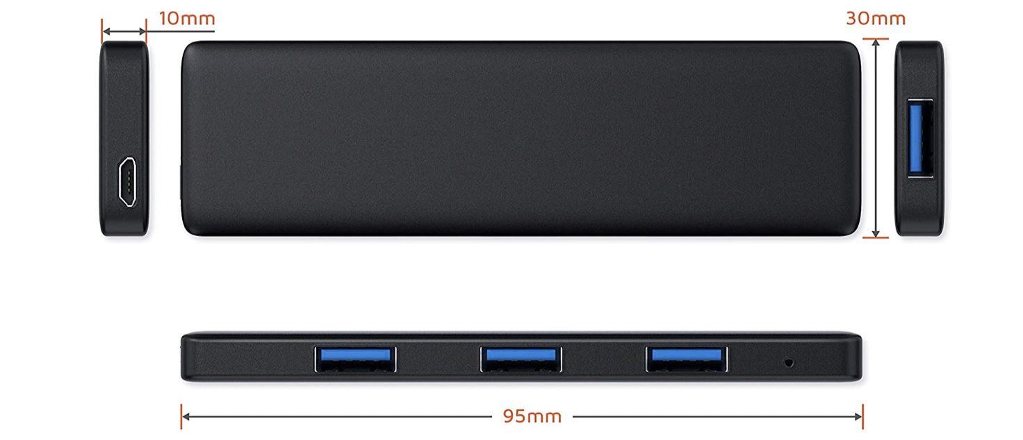 CSL USB 3.0 Hub 4 Port Datenhub mit Slim Design für 10,95€ (statt 15)   Prime