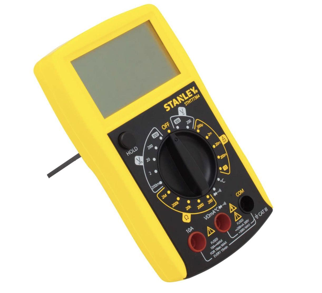 Stanley Multimeter mit mit 7 Hauptfunktionen & großem LCD Display für 19,82€ (statt 26€)   Prime