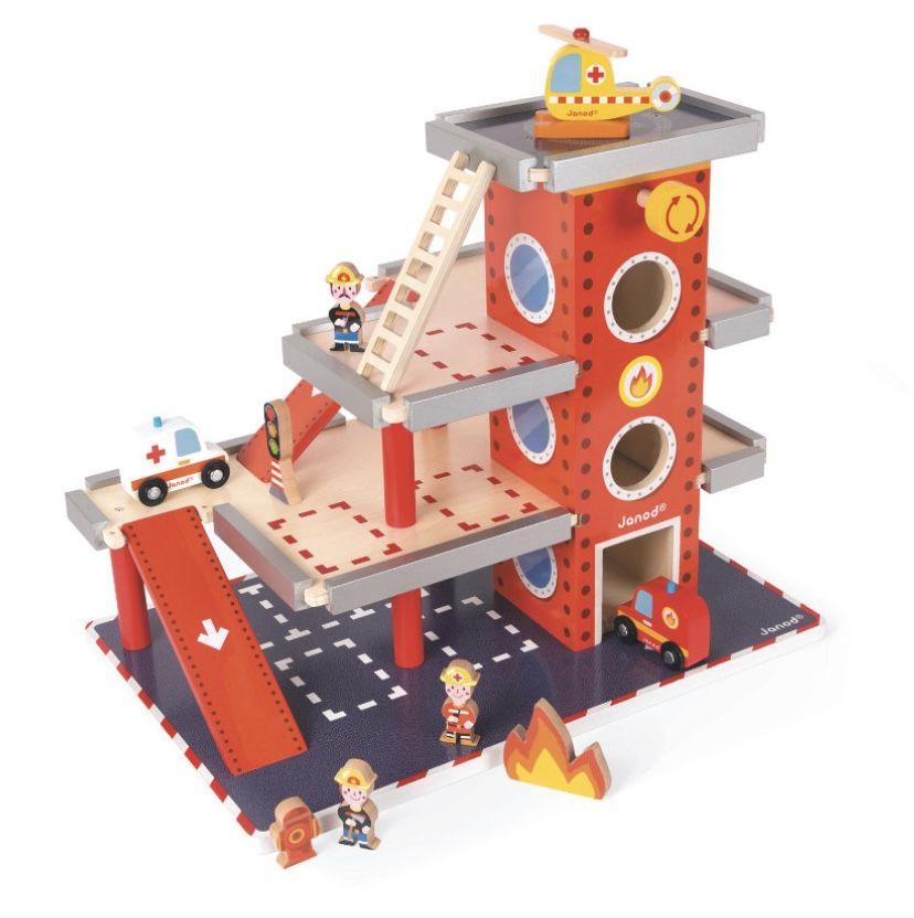 Janod J05717 Feuerwehrstation mit drei Stockwerken für 43,60€ (statt 55€)