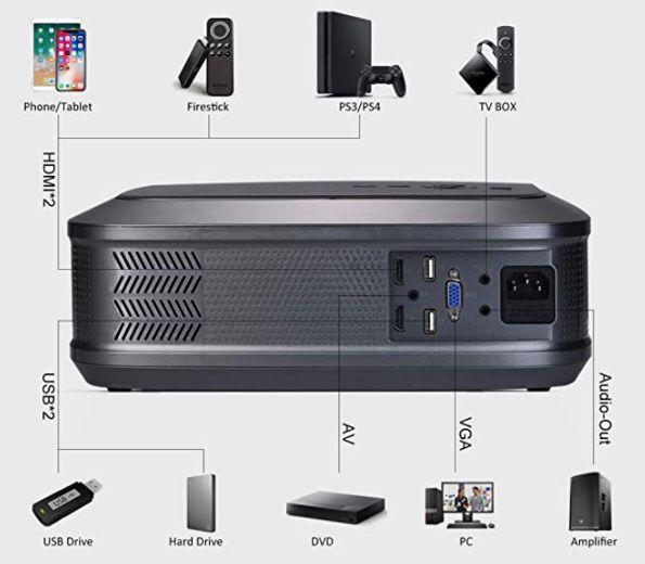 BOSNAS Full HD Beamer mit 7.800 Lumen für 79,99€ (statt 166€)