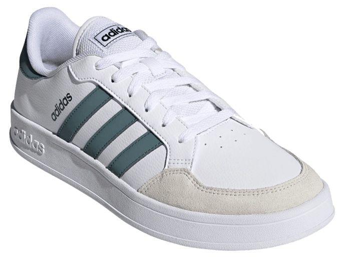 adidas Breaknet Lowcut Sneaker in Weiß/Grün für 29,95€ (statt 50€)