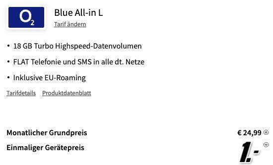 Xiaomi 11T 5G mit 256GB für 1€ + o2 Allnet Flat mit 18GB LTE für 24,99€ mtl.
