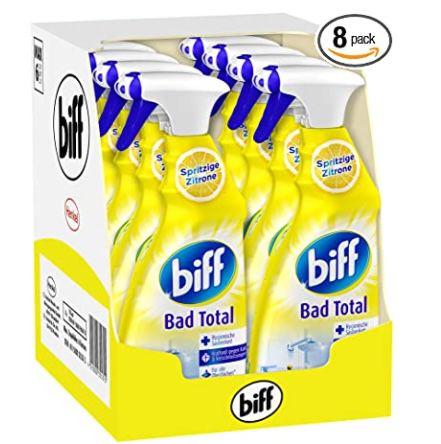 8x Biff Bad Total Spritzige Zitrone Badreiniger für 11,33€ (statt 15€)   Prime Sparabo